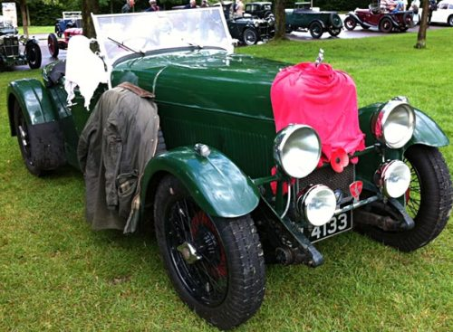 An Alvis doubles up as a useful washing line